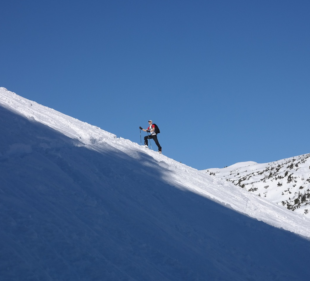 backcountry skiing best climbing skins steep slope