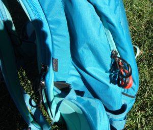 osprey kresta 30 red zipper for avalanche gear pocket