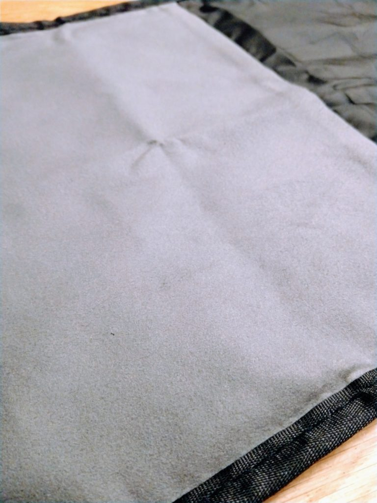 microfiber inside of the contour skin stuff sack