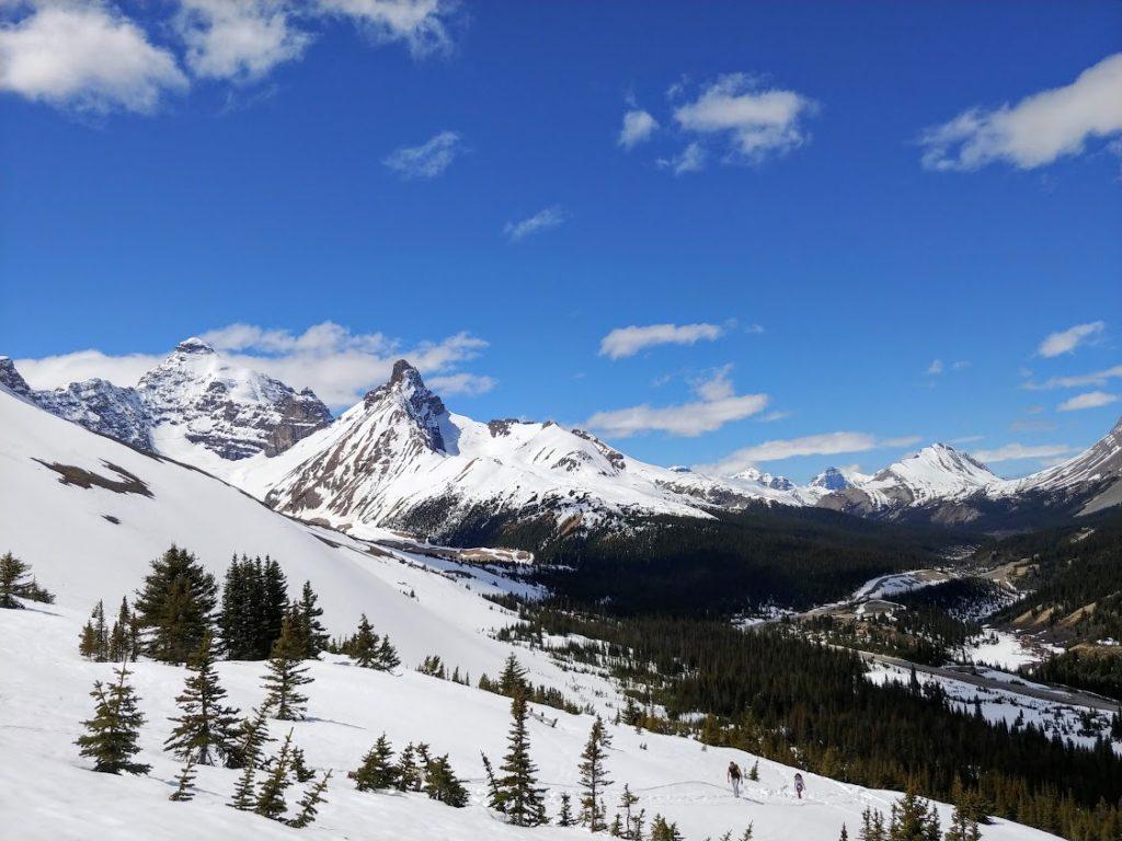 spring ski sunny day