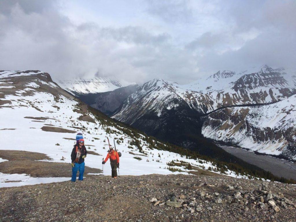 spring snow melt mountain top