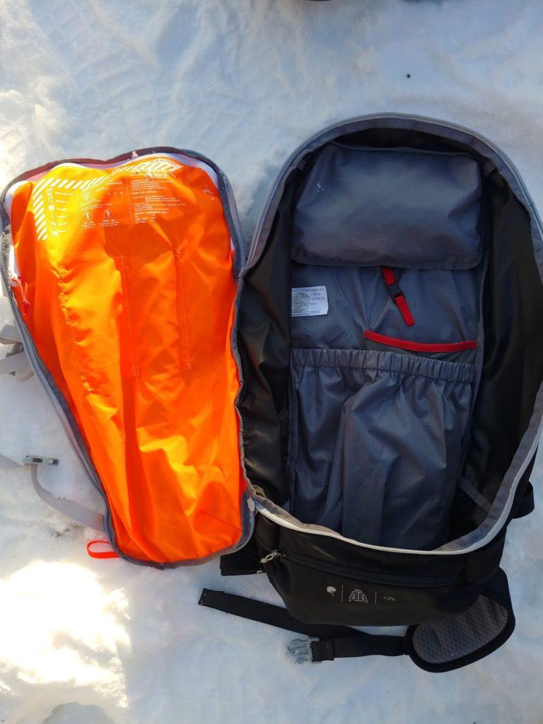 main pocket of mammut spindrift 32 ski touring pack