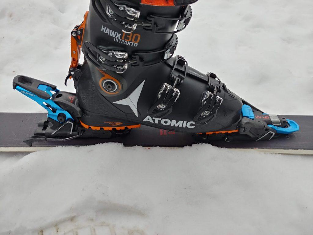 salomon s/lab shift mnc 13 binding in ski mode