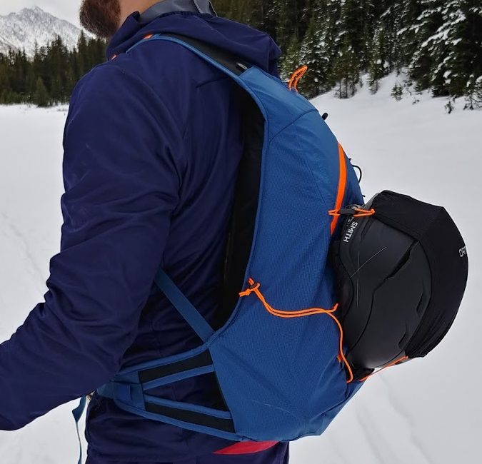 ortovox trace 25 ski touring pack side profile